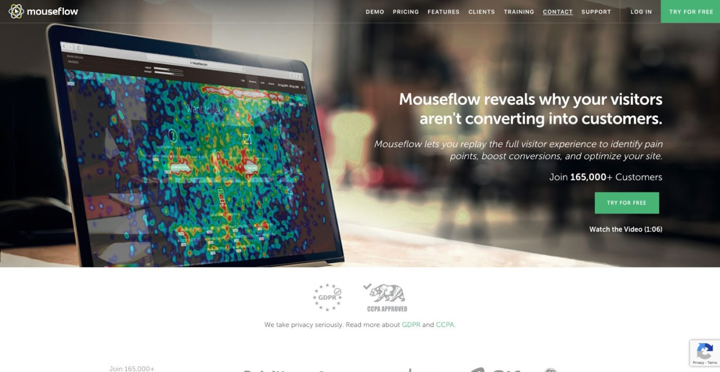 Mouseflow l Session Replay Heatmaps Funnels Forms User Feedback - Best WordPress Heatmap Plugins For 2020