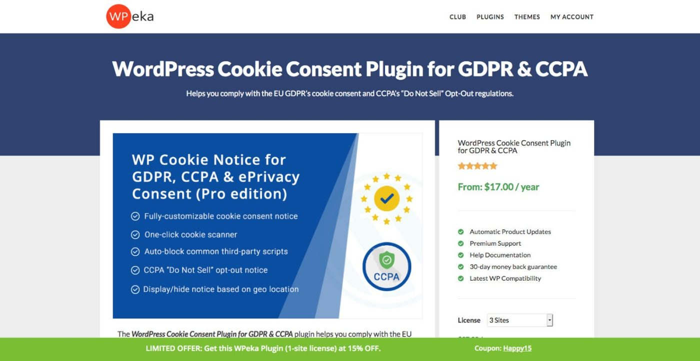WordPress Cookie Consent Plugin for GDPR CCPA WPeka - What Is GDPR and CCPA And How To Make Your Website Compliant?